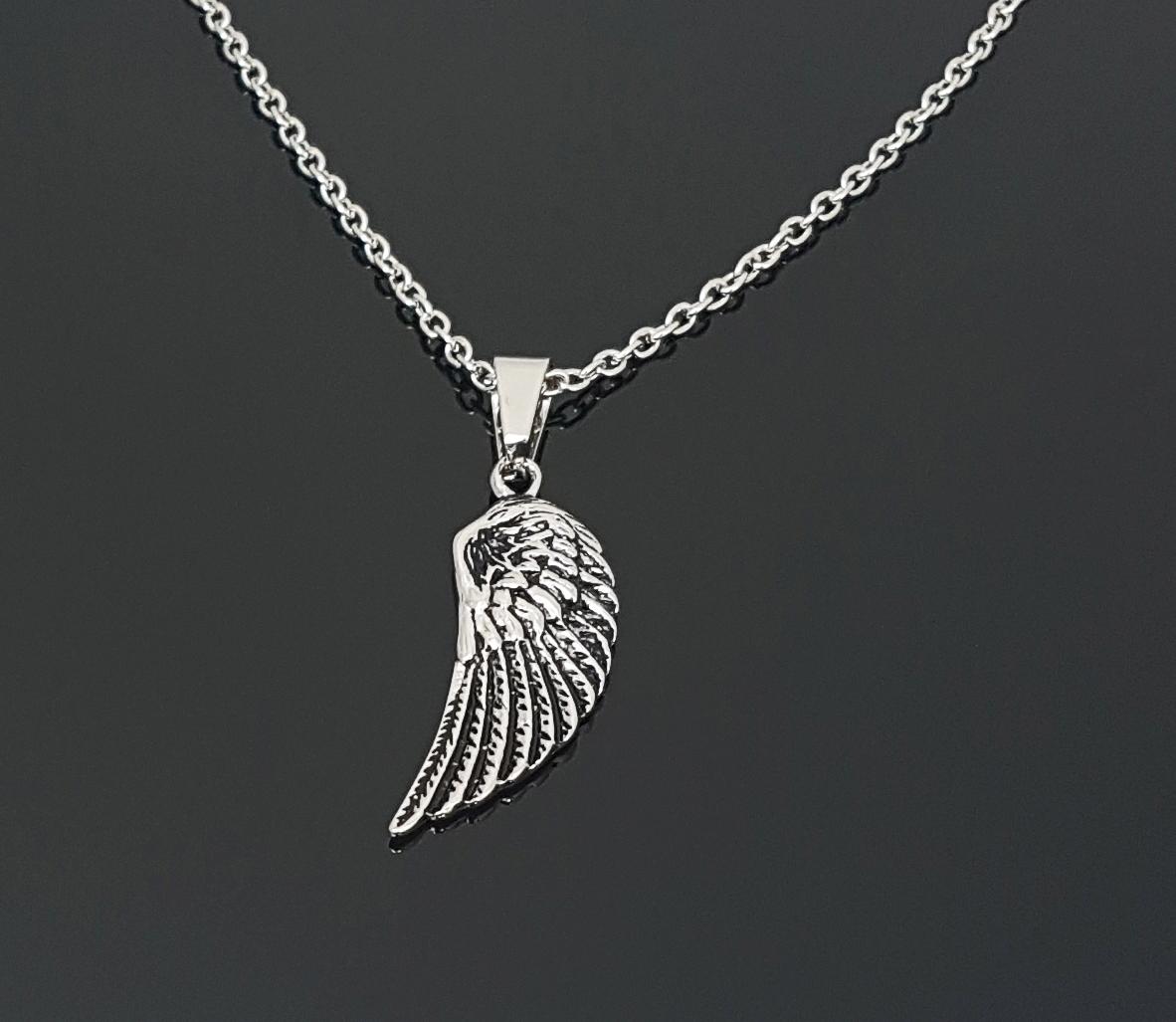 ANJEL-retiazka a prívesok krídlo anjela -chirurgická oceľ - 60cm x 2mm   4x1 80283608ed5
